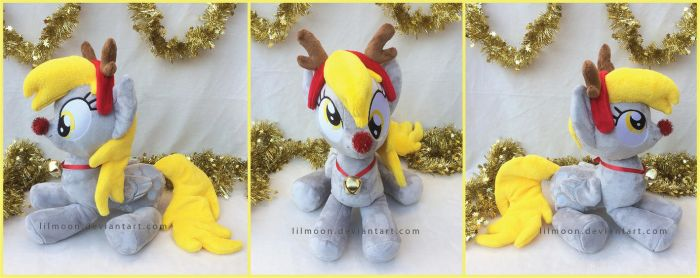 Giveaway: Rudolph Cuddle Derpy by LiLMoon