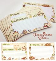 Nyanpan Cat Recipe Cards by celesse
