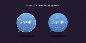 Pretty and Clean Badges PSD by SuTegin