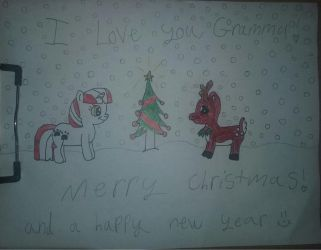 Happy Holidays!: Merry Christmas Gramma! by SonicTAlicorn