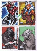 SW Galaxy 6 02 Sketch cards by Hodges-Art