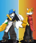 Klonoa and Tails - Yun and Yang by Parlinten