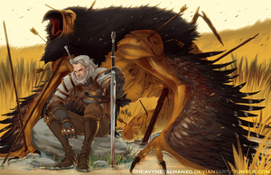 The Witcher III-Hunting The Royal Griffin by HeavyMetalHanzo