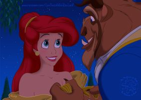 Ariel and the Beast by laetcroft