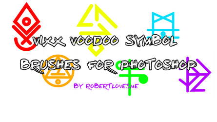 VIXX Voodoo Symbol Brushes by robertlovesme by rosemonburstmode