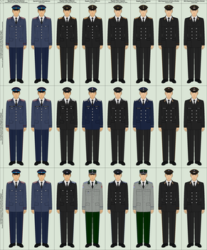 Russian Imperial Police Uniform Distinctions by TheFalconette