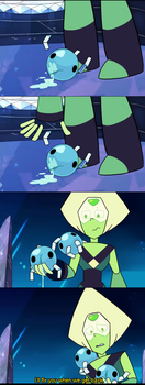 If Peridot felt Compassion (Fake screenshots) by AccursedAsche