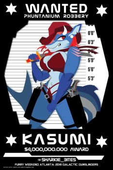 Wanted-Poster Kasumi FWA by Samoht-Lion