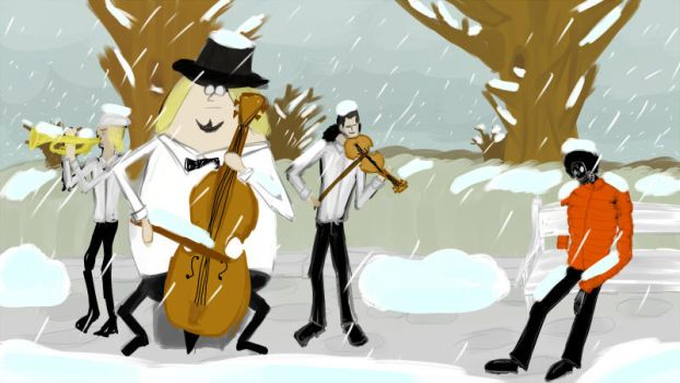 Music under the snow by TeiSsoN