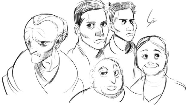 People doodle by Legeh