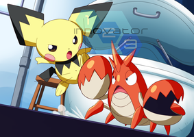 Commission: Pichu vs. Corphish