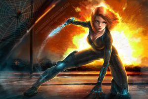 Black Widow by JasonsimArt