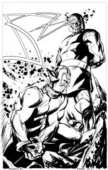 Orion vs Darkseid by stokesbook