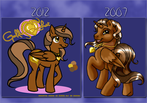 Old vs New- Golden Locket by Orceh