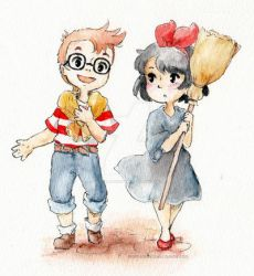 Kiki and Tombo by Marmaladecookie