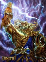 Official Zeus Gold Skin Smite by PTimm