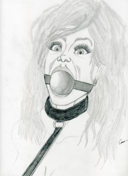 Lois ballgag test sketch by gustorak