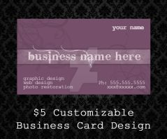 Customizable Business Cards - 06 by PointyHat
