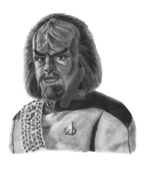 Michael Dorn and Lt. Worf Drawing by DChan75