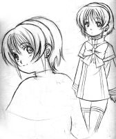 Short-Haired Girl by Goldsickle