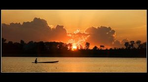 Sunset in Bening Lake by walahea