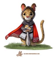 Daily Paint 1278. Sir Ocelot by Cryptid-Creations