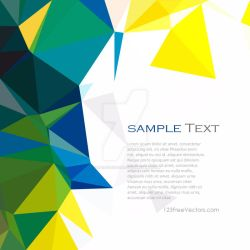 Polygonal Yellow Green Pattern Background Free by 123freevectors