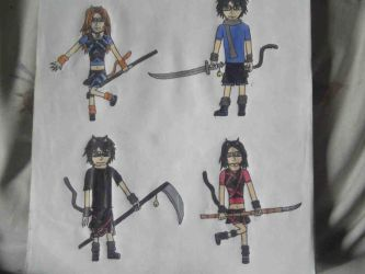 My friends and me as neko ppl by Deathnoter1993