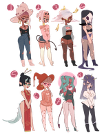 [closed] adopts | ladies + points by tzenie