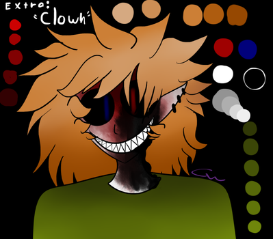 clown pic (with blood) by Galactivon