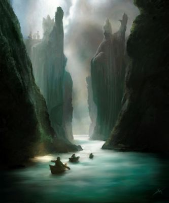 The Argonath by touchedbyred