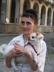 Woman with a dog. two by a-normalWITCH