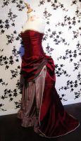 ruby victorian dress by made-me-a-monster