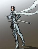 Katya - battlesuit sketch by TheDrowningEarth