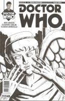 Doctor Who Sketch cover - Weeping Angel by vonfolger