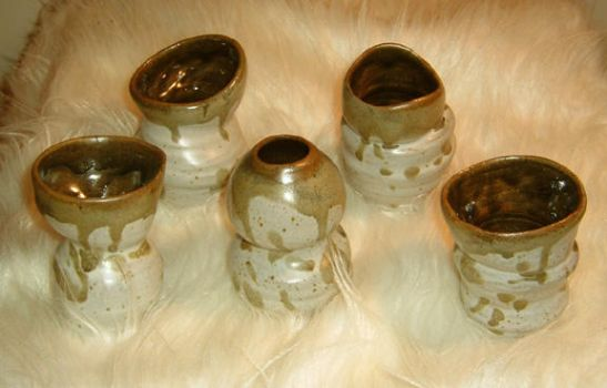 Stoneware 'Cups' by chibianne
