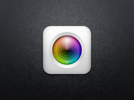 two layers camera app icon psd by Ashung