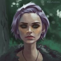 Day 5 Painting - Face Study by katyillustrates