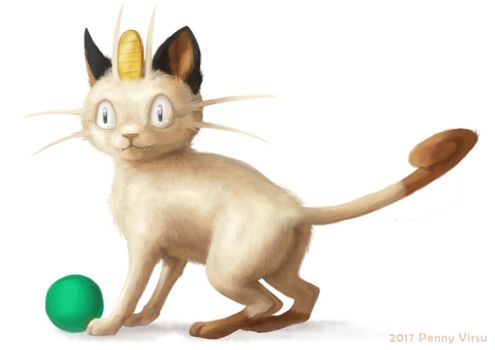 Meowth by Penny-Dragon