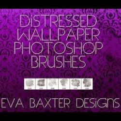 Distressed Wallpaper Brushes by voxotucih