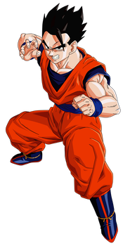 Mystic Gohan Render/Extraction PNG by TattyDesigns