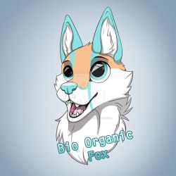 Bio organic fox badge by Husky-Whisky
