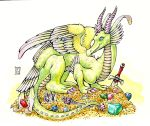 Feather Dragon's Hoard by AThousandRasps