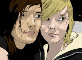 Me and Jacquelyne by Carthx