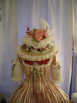 Pink Polonaise Hat c1780 by Idzit