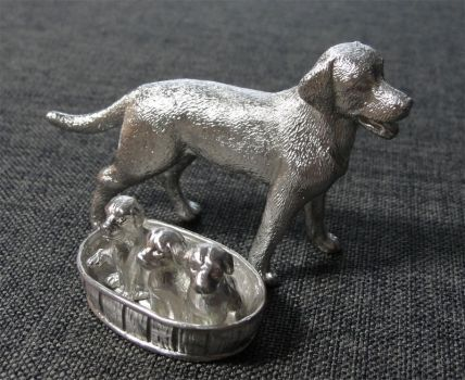 Pewter Dog Family by Psydrache