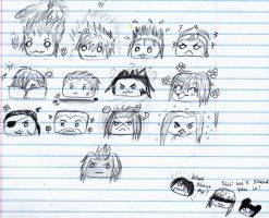 Organization XIII Munchkins by Checker-Bee