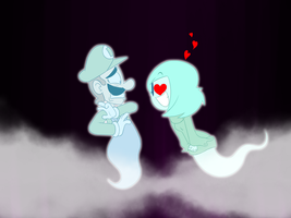 Ghostly Greeting, Luigi and Ikki by MysteryFanBoy718