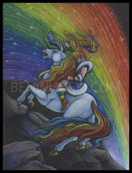 Rainbow Brite Crossing the Pits by benwhoski