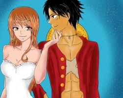 Luffy x Nami by lovelife1234